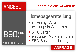 Wordpress Homepagerstellung + SEO Paket